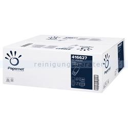Papierhandtücher Papernet 3000 Blatt weiß 22x32 cm