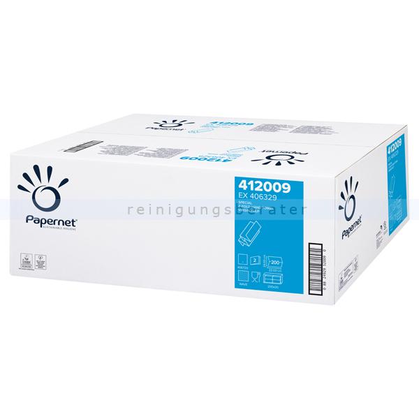 Papierhandtücher Papernet 4000 Blatt weiß 22x24 cm