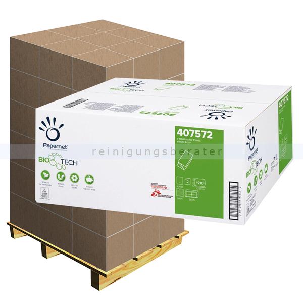 Papierhandtücher Papernet BIOTECH Flushy 22x21 cm Palette