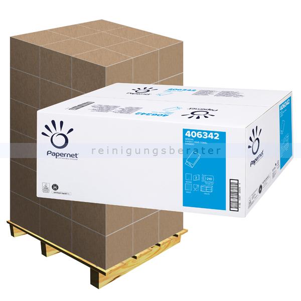 Papierhandtücher Papernet Special V 3750 Blatt weiß, Palette