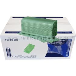 Papierhandtücher Papernet SuperGreen 3210 Bl. grün 24x23cm