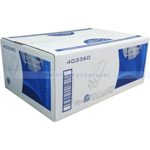 Papierhandtücher Papernet ZSuper 3120 Bl. hochweiss 22x24 cm