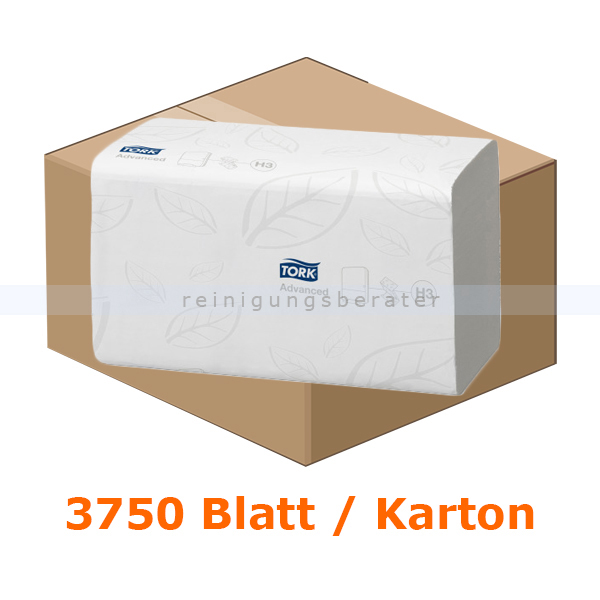 Papierhandtücher SCA Tork Advanced 3750 Bl. weiß 25x23 cm