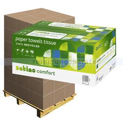 Papierhandtücher Wepa 3200 Blatt natur 25x23 cm, Palette