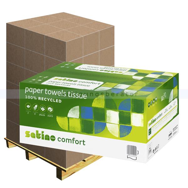Papierhandtücher Wepa Comfort hochweiß 25x33cm, Palette
