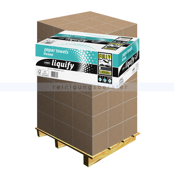 Papierhandtücher Wepa liquify hochweiss 20,6 x 24 cm, Palette