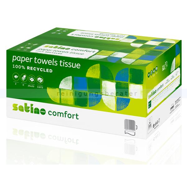 Papierhandtücher Wepa Satino 3072 Blatt hochweiss 25x33cm