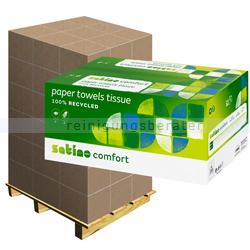 Papierhandtücher Wepa Satino Comfort weiß 25x32 cm, Palette