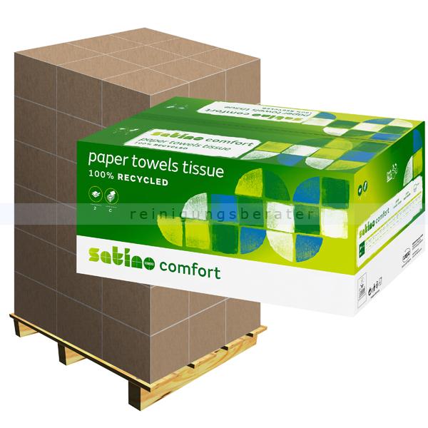 Papierhandtücher Wepa Satino Comfort weiß 25x33 cm, Palette