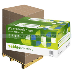 Papierhandtücher Wepa Satino grün 25x23 cm, Palette