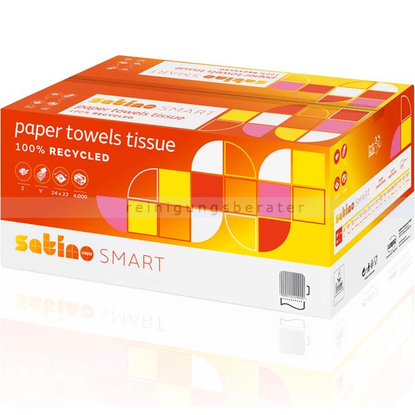 Papierhandtücher Wepa Satino Smart 4000 Blatt weiß 24x22 cm