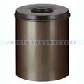 Papierkorb (feuersicher) 80 L Braun, Schwarz