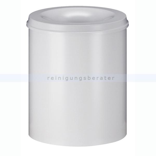 ReinigungsBerater Papierkorb (feuersicher) 80 L Weiß selbstlöschender Papierkorb mit Deckel 31014057