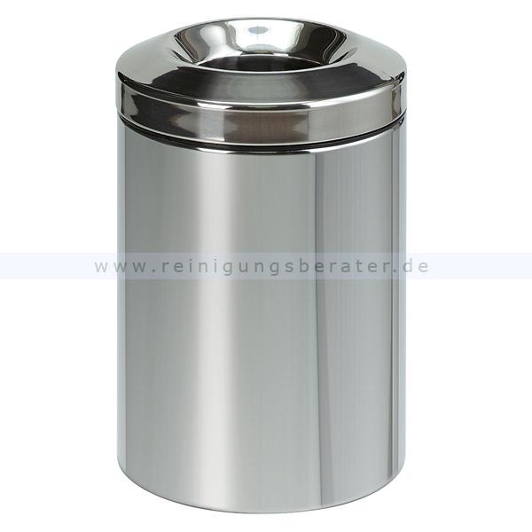 Papierkorb (feuersicher) Brabantia 15 L Edelstahl selbstlöschender Papierkorb 55378881