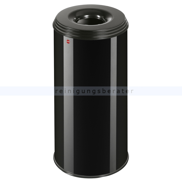 Hailo ProfiLine Safe 50 L Papierkorb feuersicher schwarz flammenlöschender Papierkorb mit flammenlöschendem Deckel 0950-732