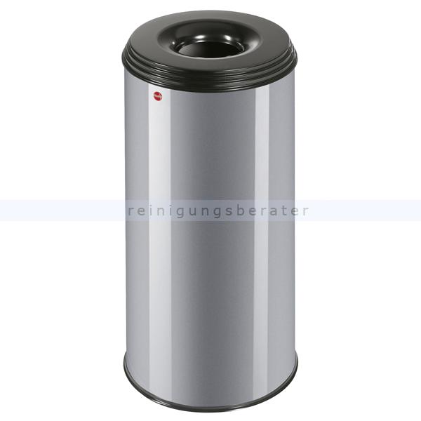Hailo ProfiLine Safe 50 L Papierkorb feuersicher silber flammenlöschender Papierkorb mit flammenlöschendem Deckel 0950-652