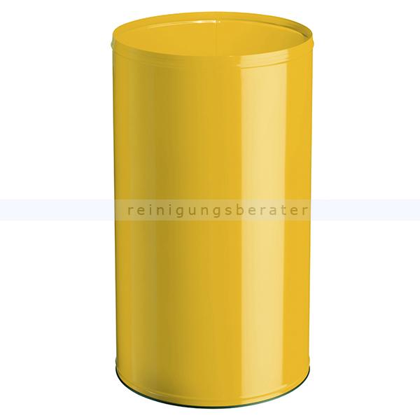 NEO Rossignol Papierkorb 110 L Rapsgelb feuersicher feuerfester Abfallbehälter aus Stahl 52248