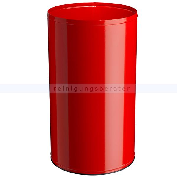 NEO Rossignol Papierkorb 110 L Verkehrsrot feuersicher feuerfester Abfallbehälter aus Stahl 52247