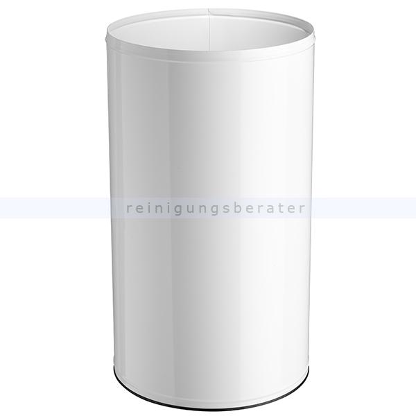 NEO Rossignol Papierkorb 110 L Verkehrsweiß feuersicher feuerfester Abfallbehälter aus Stahl 52250