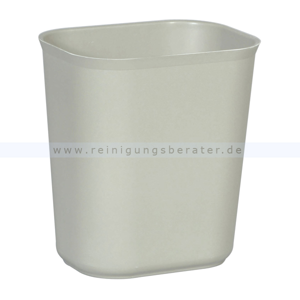 Papierkorb (feuersicher) Rubbermaid 13,2 L Grau feuerfester Papierkorb aus Glasfaser 01911601