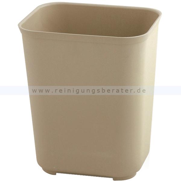 Feuerhemmender Papierkorb Rubbermaid 13 L beige feuerhemmender Papierkorb aus Kunststoff 1911588