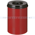 Papierkorb (feuersicher) rund 110 L rot-schwarz