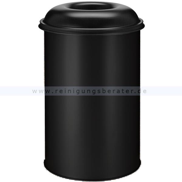 ReinigungsBerater Papierkorb (feuersicher) rund 200 L schwarz selbstlöschender Papierkorb mit Einwurföffnung 31023639