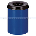 Papierkorb (feuersicher) rund 20 L blau-schwarz