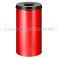 Papierkorb (feuersicher) rund 50 L rot-schwarz