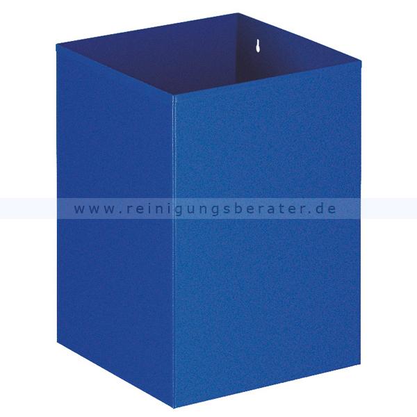 ReinigungsBerater Papierkorb 21 L blau aus Metall, Wandbefestigung möglich 31002078