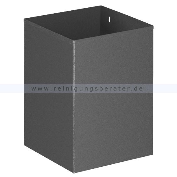 ReinigungsBerater Papierkorb 21 L grau aus Metall, Wandbefestigung möglich 31002115