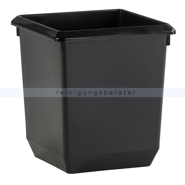 ReinigungsBerater Papierkorb 21 L Schwarz Viereckiger,Mülleimer ohne Deckel 31045440