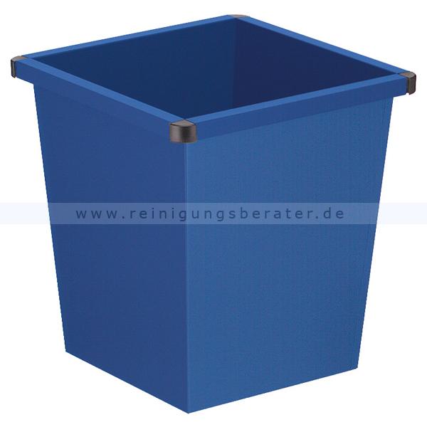 ReinigungsBerater Papierkorb 27 L blau Metall Papierkorb im modernen Design 31001347