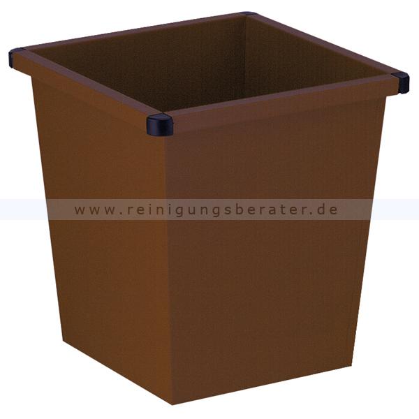 ReinigungsBerater Papierkorb 27 L braun Metall Papierkorb im modernen Design 31001385