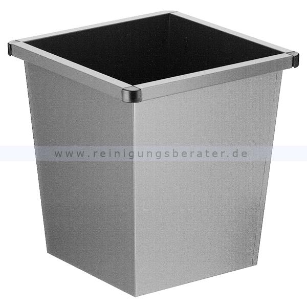 ReinigungsBerater Papierkorb 27 L grau Metall Papierkorb im modernen Design 31001460