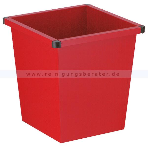 ReinigungsBerater Papierkorb 27 L rot Metall Papierkorb im modernen Design 31001521