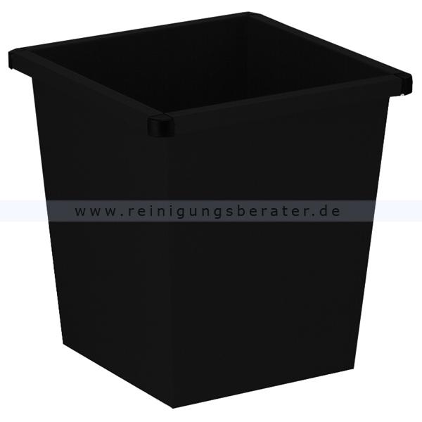 ReinigungsBerater Papierkorb 27 L schwarz Metall Papierkorb im modernen Design 31001590