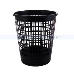 Papierkorb 50 L Kunststoff, schwarz