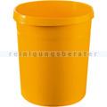 Papierkorb aus Kunststoff 18 L gelb GRIP