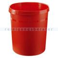 Papierkorb aus Kunststoff 18 L rot GRIP