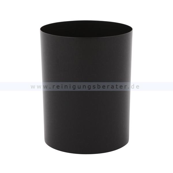 ReinigungsBerater Papierkorb aus Stahl 13 L Schwarz Mülleimer ohne Deckel, feuerfest 31051304