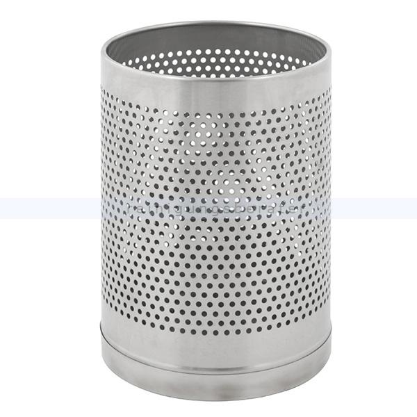 ReinigungsBerater Papierkorb Edelstahl matt, feuerfest, perforiert 10 L Perforierter Abfalleimer, feuerfest 31650163