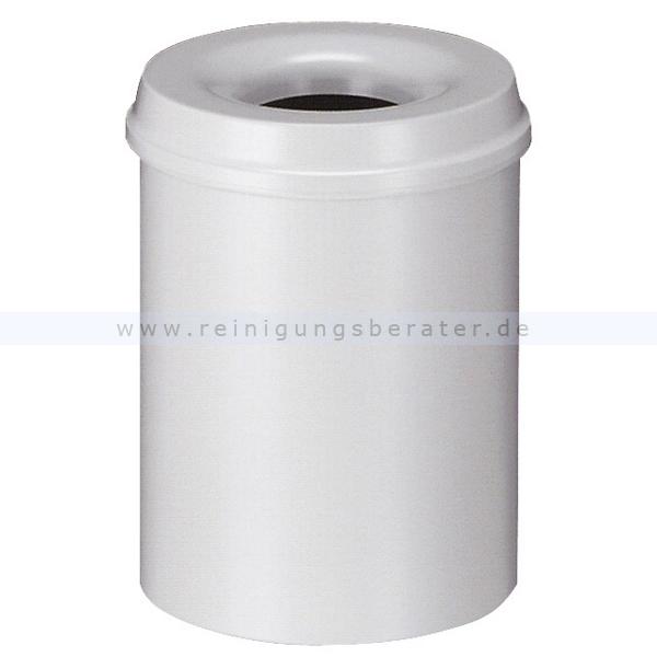ReinigungsBerater Selbstlöschender Papierkorb 15 L Grau Metall, selbstlöschend 31001200