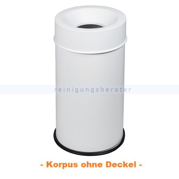 ReinigungsBerater Papierkorb GRISU VIP COLOR Weiß 50 L feuersicher selbstlöschender Papierkorb 770503