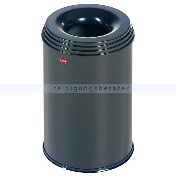 Papierkorb Hailo ProfiLine safe 15 L schwarz flammenlöschender Papierkorb aus Stahl 0915-422