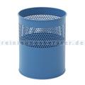 Papierkorb halbperforiert 10 L blau