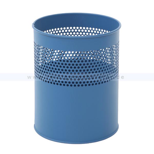 ReinigungsBerater Papierkorb halbperforiert 10 L blau Metall, feuerfest 31026180