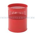 Papierkorb halbperforiert 10 L Rot