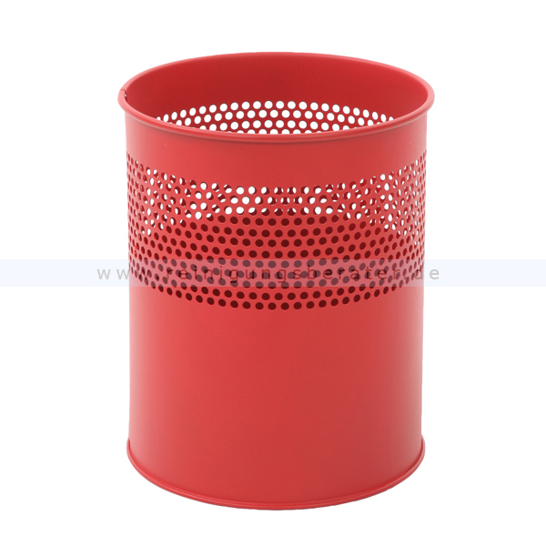ReinigungsBerater Papierkorb halbperforiert 10 L Rot Metall, feuerfest 31009800