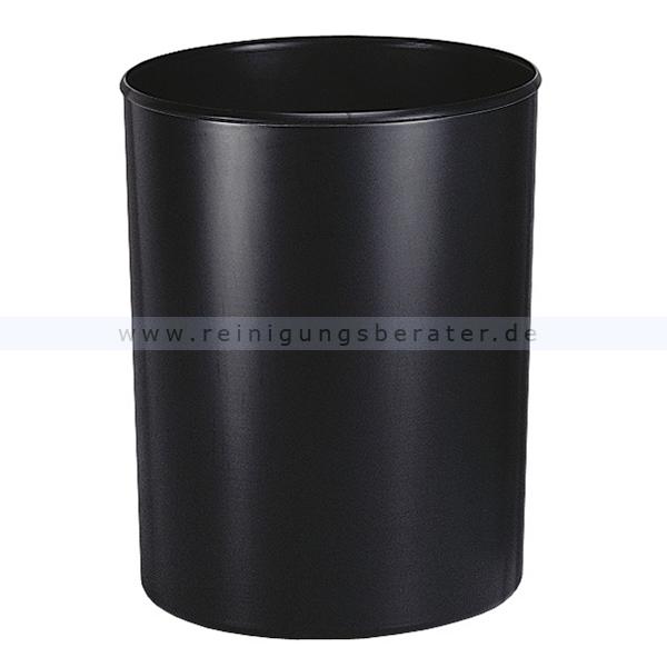 Feuerfester HAN Papierkorb mit Inneneimer 20 L Schwarz feuerfester Papierkorb ohne Deckel 1818-S-13